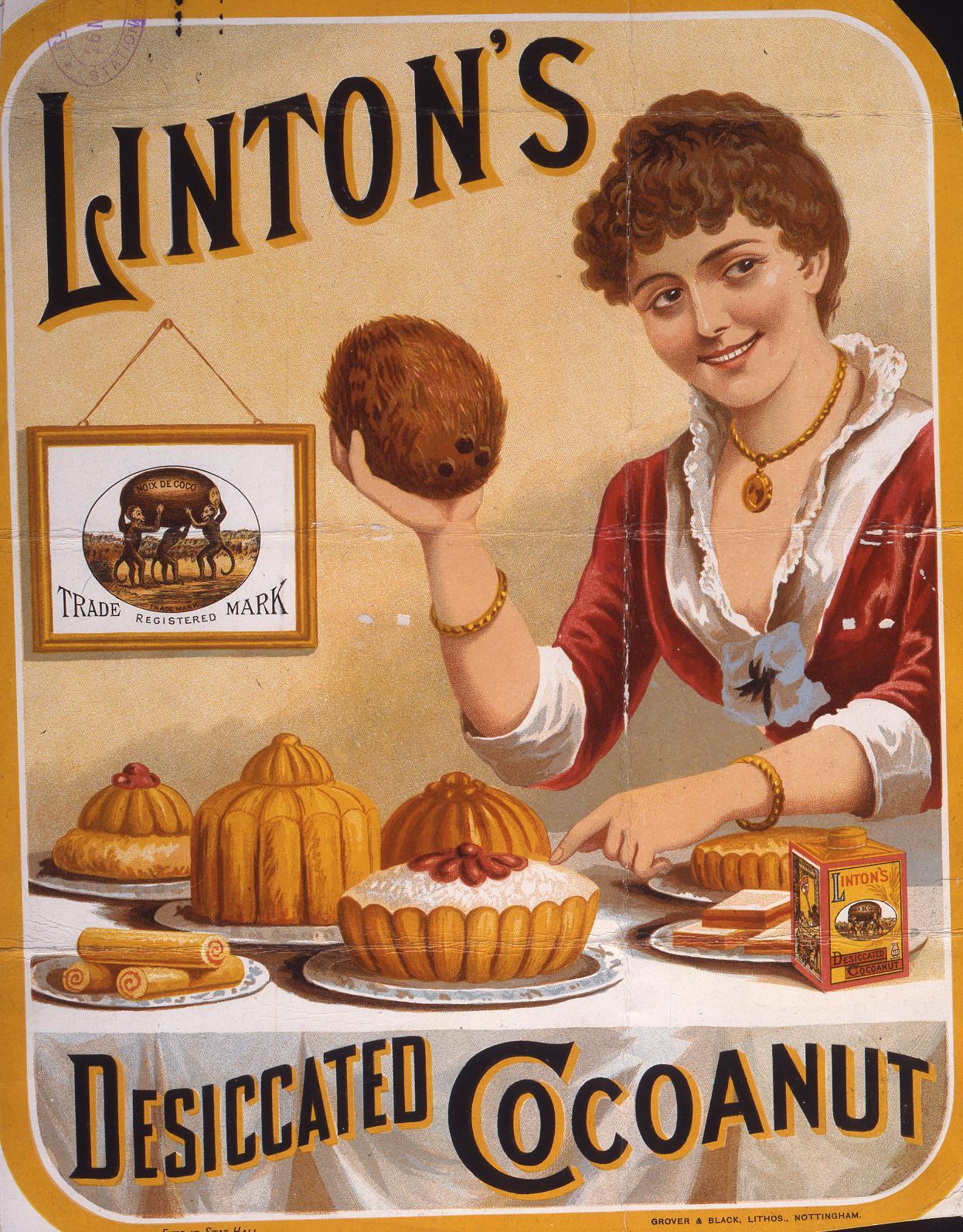 COPY 1/71 f11 1885 Linton's Desiccated Coconut