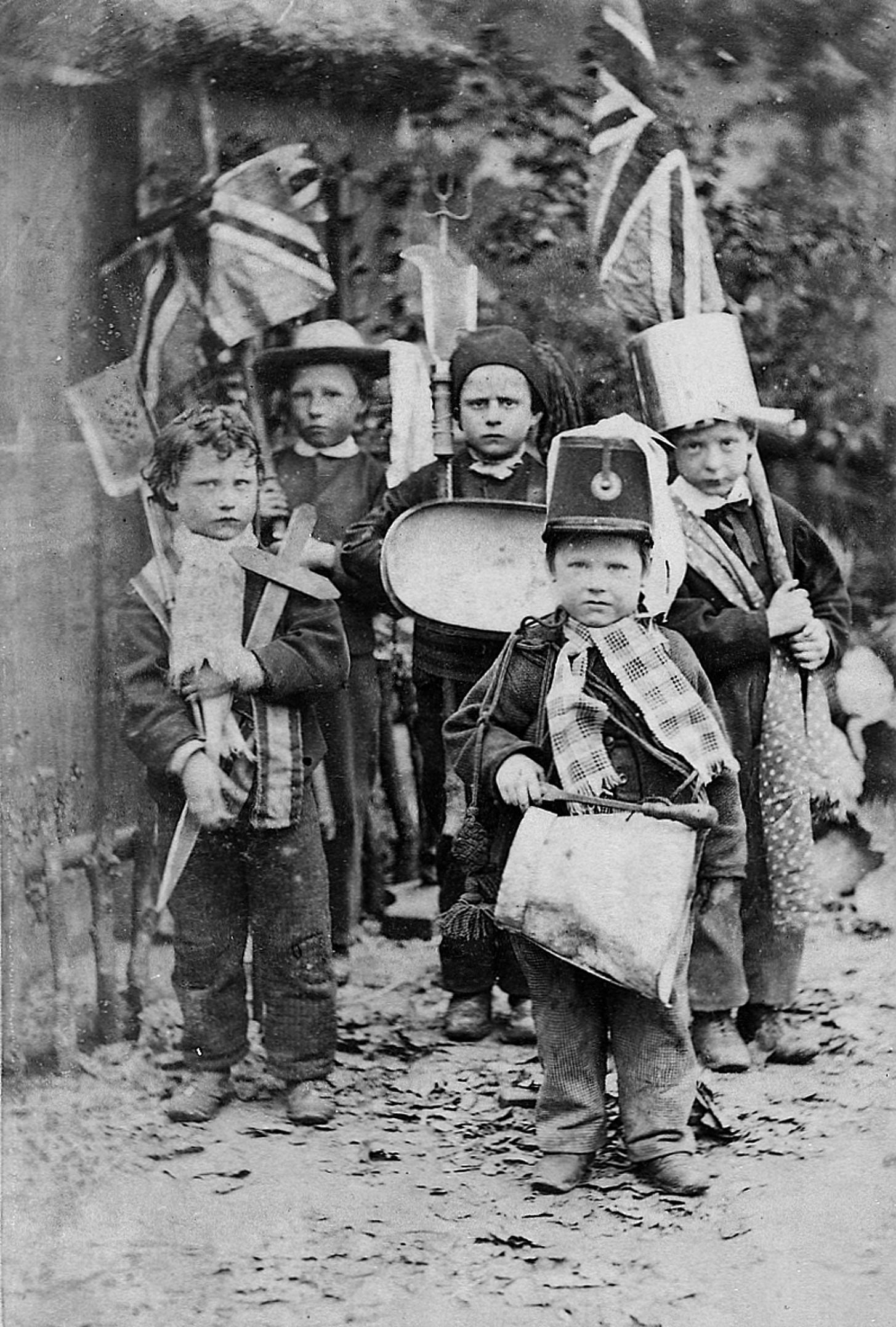 COPY1/13 (300) Children dressed as soldiers 1867