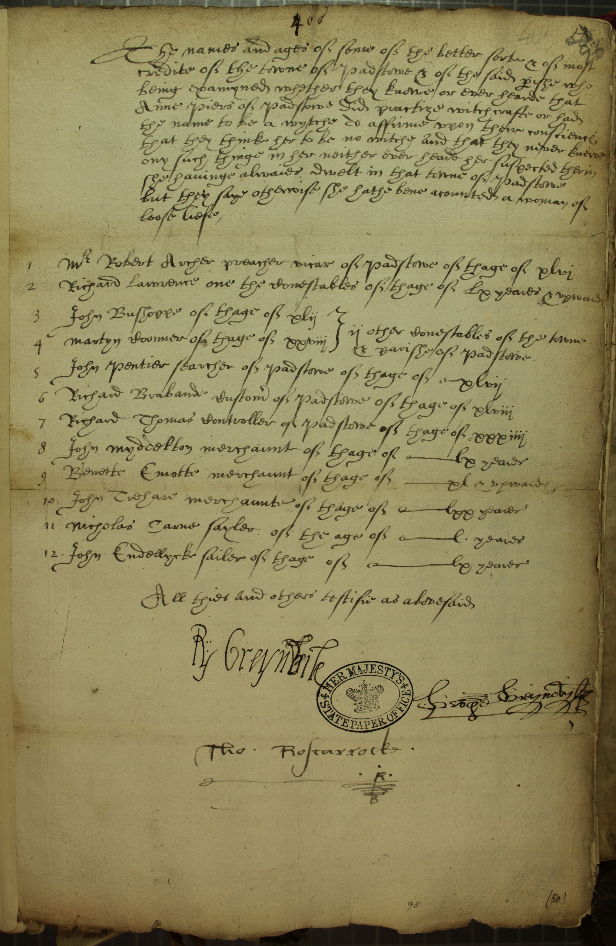 Support for Anne Piers, accused of witchcraft SP12/150/96