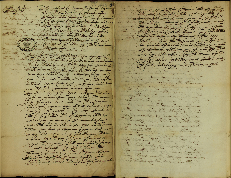 Accusing Queen Elizabeth I of witchcraft SP14/175/90