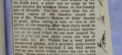 Image of 'prohibiting walking in the garden'