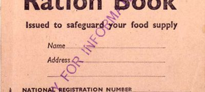 BT131/40 Rationing Adult's Ration Book