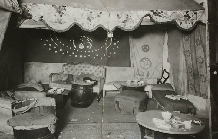 A photograph of the interior of the Caravan Club, a venue surveilled by police in the 1930s (catalogue reference: MEPO 3/758)