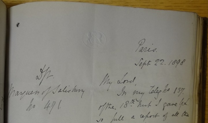 Despatch 471 in a volume of embassy and consular correspondence from 1898.
