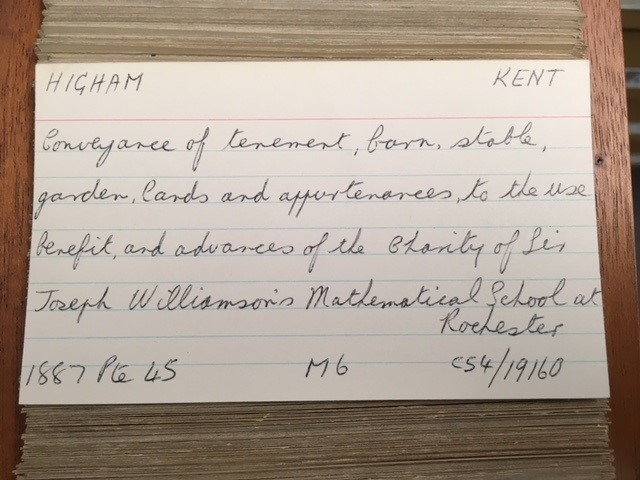 Trust deeds 1870-1905 - the index card provides the full document reference - in this instance it's C 54/19160.
