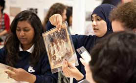 Photographs of students at the Bishopsgate Institute
