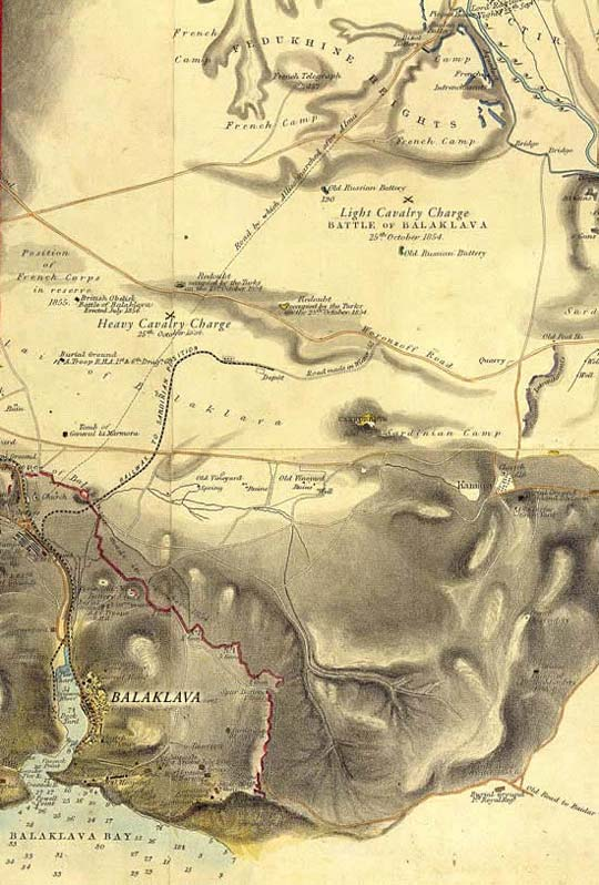 Map of the Battle of Balaklava