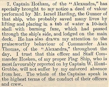 Report on the bombardment of Alexandria