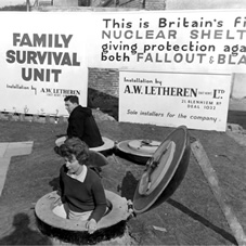 The prototype of Britain's first nuclear shelter at Kingsdown, Kent in 1962.