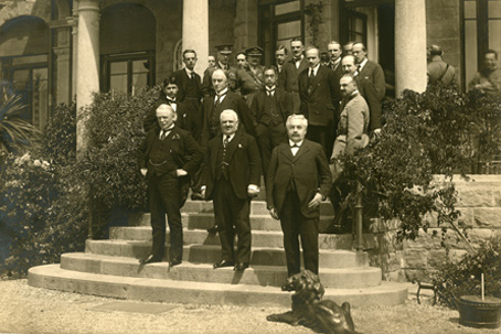 Delegates at the 1922 Genoa Conference.