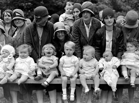 Future taxpayers - entrants at a 1920s babyshow.
