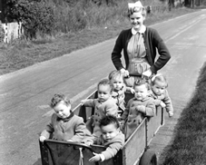 In April 1956 young residents at a Dr Barnado's children's home are taken out by a nursery student.