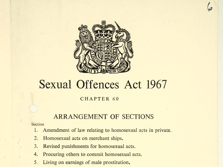 Legalisation of homosexuality 1967