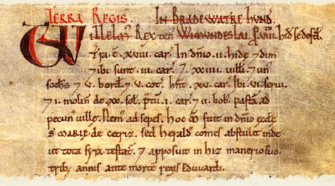 Domesday entry for Broadwater, Hertfordshire.  Catalogue reference: E 31/2/1 f.132.  Digital Images and Translation reproduced by kind permission of Editions Alecto Limited
