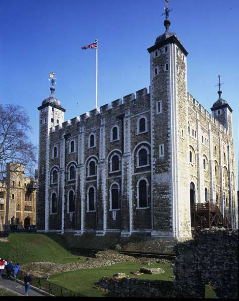 The White Tower at the Tower of London. Historic Royal Palaces