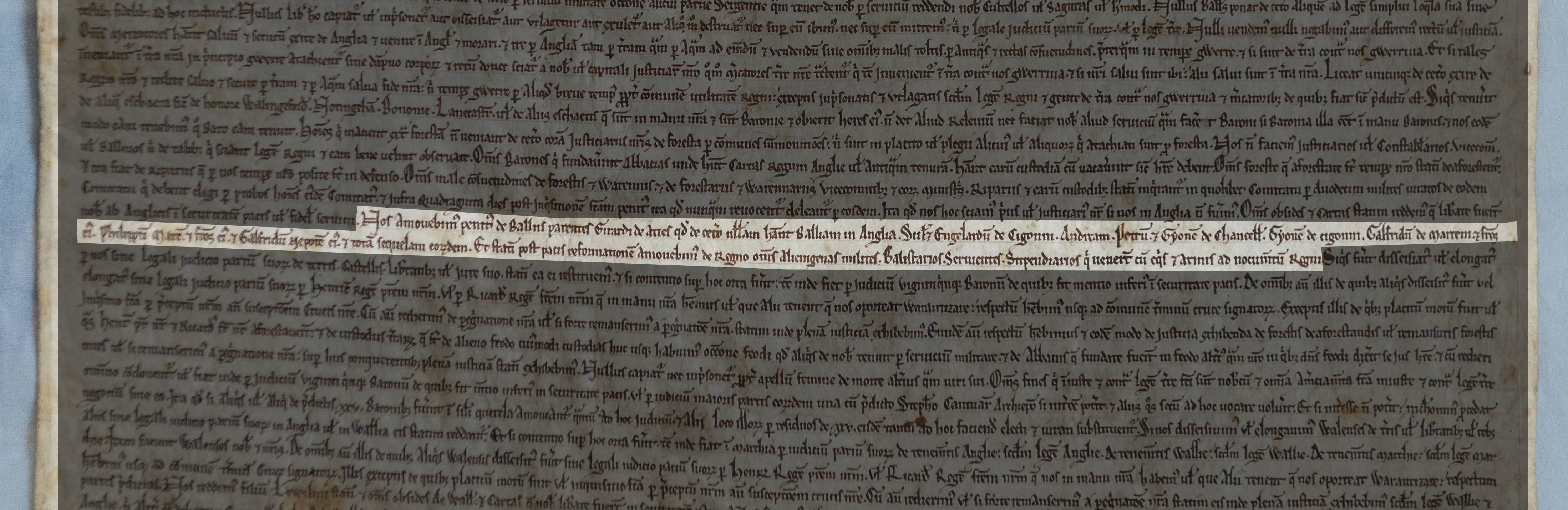Clauses 50 and 51 of Magna Carta 1215