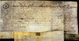 Will of William Taylor of Brixworth Northants, 1634 (catalogue reference SP 7B/14)