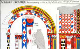 Plan of Hereford Cathedral. Image courtesy of Hereford Cathedral.