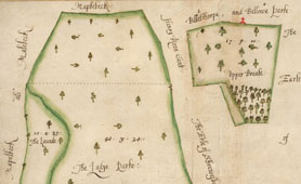 Map of the Manor of Eakring, courtesy of Nottinghamshire Archives