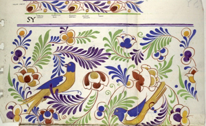 Poole Pottery pattern book courtesy Dorset History Centre D/PPY