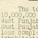 Document outlining the economic effects of the disturbances in the Punjab (DO 142/439)