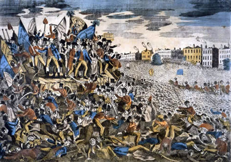 Human Rights 1815 1848 The Peterloo Massacre At St