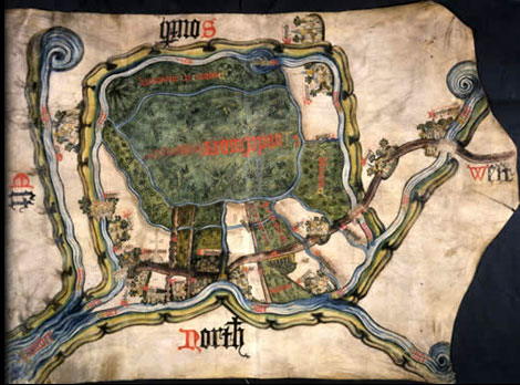 Map of Inclesmore in Yorkshire circa 1450 - Catalogue reference MPC 1/56