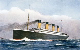 Watercolour of White Star Line Titanic class 1912 (Catalogue ref: COPY 1/362/f125)