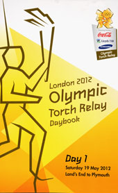Front cover ofTorch Relay Daybook, London 2012 (reference: LOC 6/77)