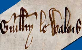 Detail from the letter concerning William Wallace (catalogue reference SC-1/30 no. 81)