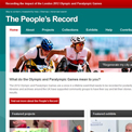 The People's Record website
