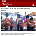 BBC News Jubilee highlights website