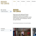 National Portrait Gallery Road to 2012 website