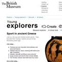 British Museum - Sport in ancient Greece website