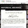 International Olympic Committee, Historical Archives website