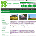 London 2012 Sustainability website