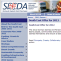 South East England Development Agency 2012 website
