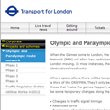 Transport for London 2012 Games - archived website, British Library