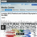 BBC Media Centre London 2012 - archived website, British Library