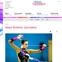 British Gymnastics Rhythmic website