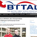British Table Tennis Association for People with Disabilities website