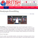 British Weightlifting Paralympic Powerlifting website