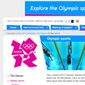 London 2012 Sports website
