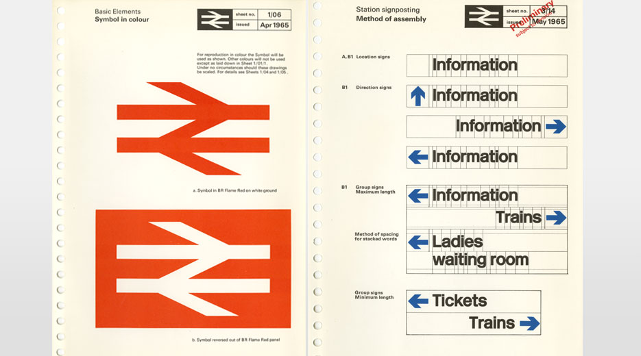 The double arrow logo from the four-volume BR Corporate Image Manual