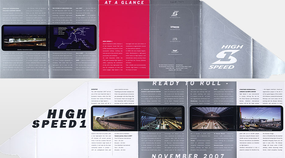 High Speed 1 publicity leaflet, 2007