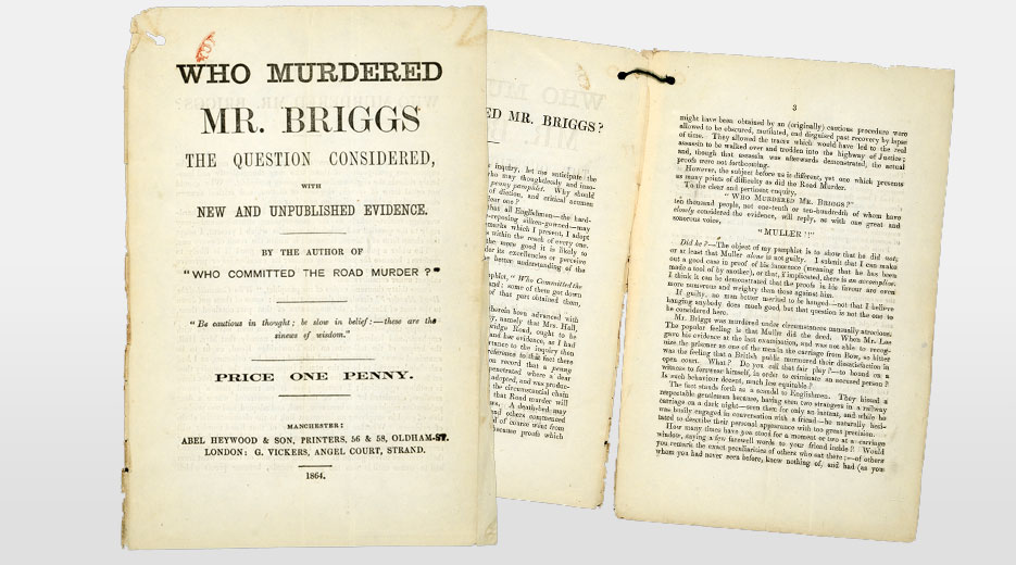 One of many pamphlets produced about the case, in the Metropolitan Police file on the murder