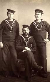Royal Navy ratings: survivors from the HMS Serpent, 1890 (catalogue reference: COPY 12/404/37)