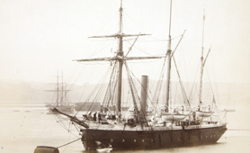 Photograph of sailing ship (Catalogue reference: ADM 176/769)