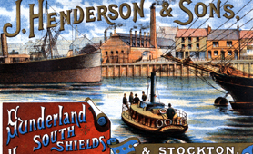 Advertising poster for J. Henderson & Sons Sunderland ferry, 1892 (Catalogue reference: COPY 1/103/f227)