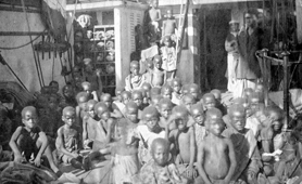 Photograph of rescued slaves on board HMS Daphne, 1868 (Catalogue reference: FO 84/1310/B)